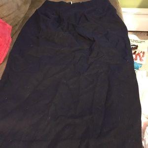 Women's maxi skirt wool